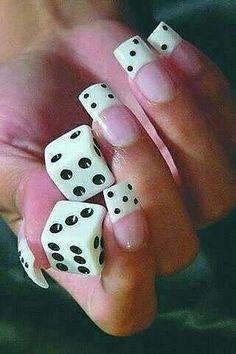 "#NailArt ""casino"" - #vernis #manucure"