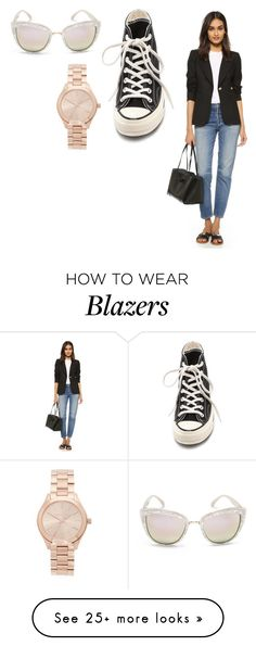 """""""Sin título #1847"""" by ceciamuedo on Polyvore featuring Smythe, Converse, Quay and Michael Kors"""