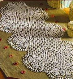 Delicadezas en crochet Gabriela: Camino de mesa