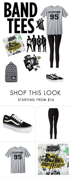 """""""5 seconds of summer"""" by dodhay ❤ liked on Polyvore featuring Vans and Miss Selfridge"""
