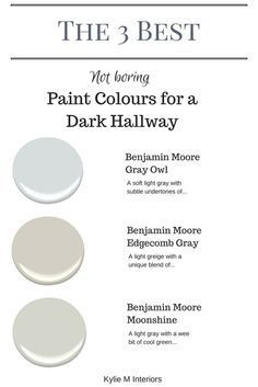 Cool The 3 best not boring paint colours for a dark hallway or stairwell by Kylie M Interiors. E-decor and Color Consulting The post The 3 best not boring paint colours for a dark hallway or stairwell by Kylie M I… appeared first on Ameria .