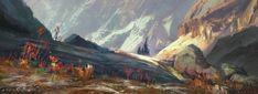 ArtStation - Mountains sketch, Stéphane Wootha Richard Landscape Concept, Landscape Artwork, Landscape Design, Fantasy Places, Fantasy World, Fantasy Art, Environment Painting, Environment Concept, Mountain Sketch