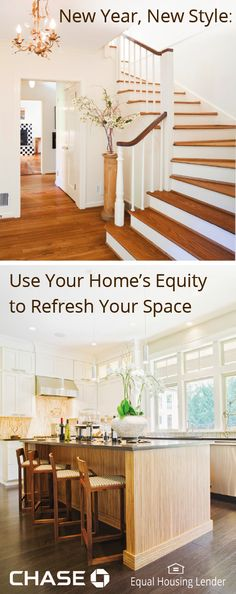 Does your house need a refresh this year? Whether it's adding new hardwoods or creating a beautiful kitchen, figure out your budget and learn how a Chase Home Equity Line of Credit can help fund your remodeling project.