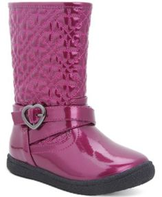 Nina Little Girls' or Toddler Girls' Avary Boots $49.99 Show some love for rainy days with these adorable splash-ready rain boots—with a cool quilted shaft and heart-shaped hardware—from Nina.