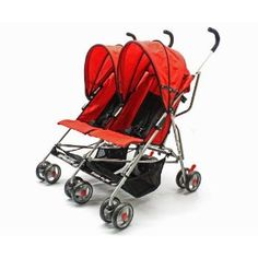 Just bought this double umbrella stroller and LOVE it! Folds flat and super light. Perfect for checking at the airport!!