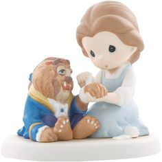 """Precious Moments Disney Collection """"Friends Share Caring Hearts""""... ($75) ❤ liked on Polyvore featuring home, home decor, disney figure, disney figurines, porcelain figurine, precious moments figurines and disney home decor"""