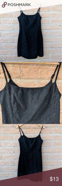 Express Black Snake Skin Dress Express Black Snake Skin print Dress euc size 5/6 adjustable straps  30 inch waist  25 1/2 inch long Express Dresses