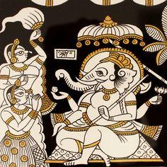 White phad Traditional Art by Unknown on Cloth, Religious based on theme Pichwai Art Gallery Saree Painting, Kalamkari Painting, Madhubani Painting, Mural Painting, Indian Traditional Paintings, Traditional Artwork, Indian Artwork, Indian Folk Art, Pichwai Paintings
