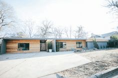 The Mid-Century Modern || Exterior transformation by Chip and Joanna Gaines as seen on HGTV Fixer Upper. For more on this episode click this picture or go to our website magnoliahomes.net #FixerUpper #Magnolia #magnoliafarms #JoannaGaines