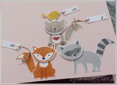 Sigrids kreative ART: Hurra, ich bin da! #foxyfriends #stampinup