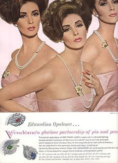 Wilhelmina for Vendome Jewelry 1964