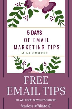 5 Days of Email Marketing Tips by Fearless Affiliate. This course will help you set up your welcome series with helpful information for new subscribers. Email Marketing. Subject Lines. When To Email. Welcome Series. Email List Welcome Series. How to Write An Email Welcome Series. Email Marketing Strategy. Email Lead Magnet. MailerLite. Email Service Provider. Email Newsletter. Nurture Sequence. Email Welcome Sequence. List Building. Email Design Layout. Email Inspiration. Email Marketing Tips. Email Providers, Email Service Provider, Email Marketing Strategy, Media Marketing, Make Money Online, How To Make Money, Email Design, Starting Your Own Business, Business Tips