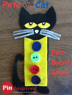 Pete the Cat Felt Board Story - cute felt board activities for the popular book! #kids #crafts #felt