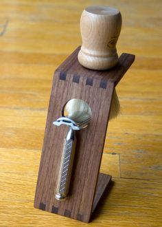 Wood Shave Stand Dark Walnut