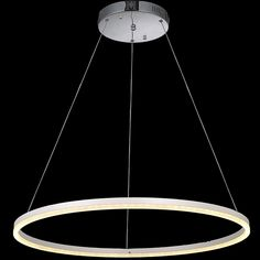 (222.30$)  Watch more here  - VALLKIN White Acrylic Round Ring Lighting Fixtures LED Pendant Lights Cristal Dinning Decorative Hanging Lamp CE FCC ROHS