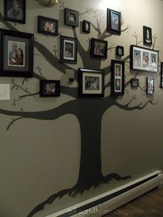 Awesome idea for a hallway or family   http://homedecorationscollections.blogspot.com