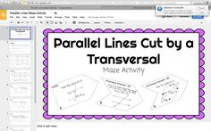 Parallel Lines, Transversals, and Angles Coloring