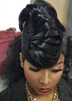 208 Braided Mohawk Hairstyles for Little Girls - Hairstyles 2019 Braided Mohawk Hairstyles, Weave Hairstyles, Pretty Hairstyles, Prom Hairstyles, Hairstyle Ideas, Ebony Hair, Porsha Williams, Natural Hair Styles, Short Hair Styles