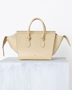 8fc3ddc76d9c TIE HANDBAG IN SMOOTH CALFSKIN VANILLA - Celine Spring 2014 Celine Bag Price