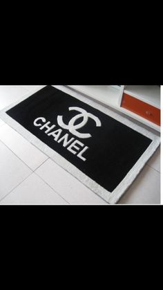 Chanel bath rug, door mat, bedroom rug, etc.