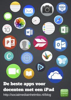 'De beste apps voor docenten met een iPad' Een boekje vol met praktijkvoorbeelden van standaard en gratis apps die iedere docent moet hebben!