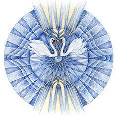 Hier het zesde - Derde oog- chakra, dat je inzicht geeft en je duidelijk maakt dat je verantwoordelijkheid voor je leven dient te dragen.