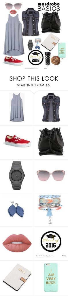 """Basics"" by ninatattoo ❤ liked on Polyvore featuring Theory, maurices, Vans, Rebecca Minkoff, CC, New Look, Lime Crime, Calvin Klein, ban.do and Kate Spade"