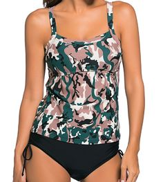 Tankini camouflage noir & kaki - bestyle29.com