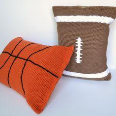 Pillow Case Crochet Pattern football pillow by CharacterCrochet, $4.99