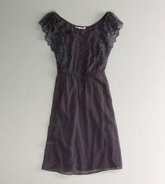 AE Flutter Sleeve Dress
