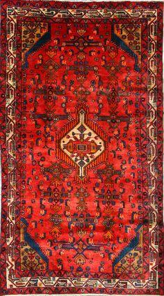 Buy Hamadan Persian Rug x Authentic Hamadan Handmade Rug