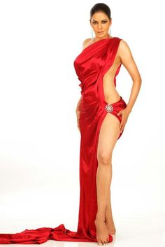 Oh My God Actress Poonam Jhawer Hot Photoshoot Stills in red sexy dress.