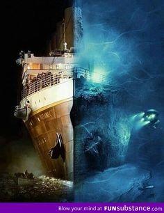 "If you haven't seen James Cameron's ""Ghosts of the Abyss,"" I highly recommend it!! Awesome inside views of the wreck, with period overlays to help you picture what it is you're looking at."