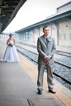 DIY Vintage Train Station Wedding - Photo Recap : wedding diy teal train station vintage wedding IMG 2216 1