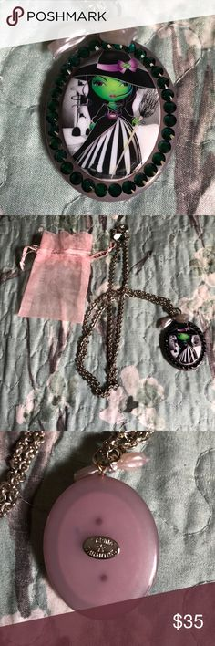 "Tarina Tarantino ""Wicked"" collectors necklace Tarina Tarantino ""Wicked"" collectors necklace with a 16 inch chain and matching pink bag, genuine Swarovski crystals, never worn, mint condition Tarina Tarantino Jewelry Necklaces"