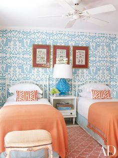 How to Decorate with Two Twin Beds - Guest Room and Kids Bedroom Ideas Photos…