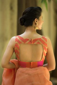 15 Stylish Saree Blouse Back Neck Designs - Kurti Blouse Blouse Back Neck Designs, Simple Blouse Designs, Stylish Blouse Design, Bridal Blouse Designs, Blouse Neck Designs, Indian Blouse Designs, Blouse Neck Patterns, Cotton Saree Blouse Designs, Blouse Styles