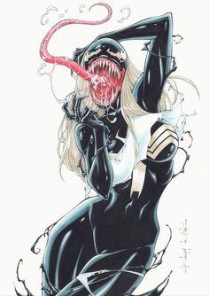 Gwen Stacy vs Venom II by Rubismar da Costa Gwen Stacy vs Venom II by… Venom Comics, Marvel Dc Comics, Marvel Villains, Marvel Art, Marvel Characters, Marvel Girls, Comics Girls, Comic Books Art, Comic Art
