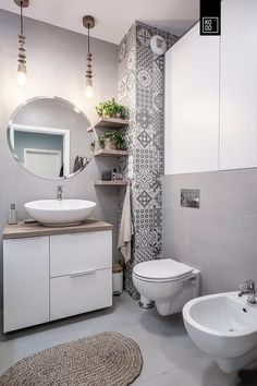 The cupboard and the shelves Diy Bathroom Decor, Bathroom Design Small, Bathroom Interior Design, Interior Decorating, Grey Toilet, Small Toilet, Bathroom Tiles Pictures, House Rooms, Cupboard