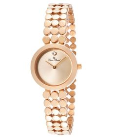 Lucien Piccard Women's Rose Gold Tone Dial Rose Gold Tone Ion Plated Stainless Steel LP-100006-RG-99 Watch