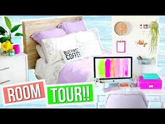 My room tour for 2016 is finally here! Hope you get some awesome room tour + organization ideas from seeing my room! If you have any room decor ideas leave t. Coffee Room, Alisha Marie, Tumblr Bedroom, Room Tour, Dream Bedroom, Dream Rooms, New Room, Bed Pillows, Diy Home Decor