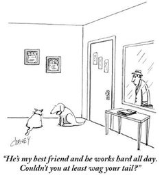 Bob Mankoff on dog cartoons: http://nyr.kr/XrlkxO