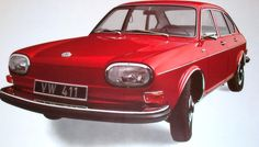 In 1971, the Type 4 411 is sold in the U.S. and is replaced by 414 in 1972 as VW's largest passenger vehicle with the largest engine. The car retains VW's trademark air-cooled, rear placement, rear-wheel drive boxer engine with a front/rear weight distribution of 45/55% and forward cargo storage. It also introduces design and engineering departures for the company, including unibody construction, a completely flat passenger area floor and suspension using control arms and MacPherson struts.