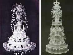 Zowel koningin Wilhelmina als prinses Juliana hadden bij hun huwelijken in respectievelijk 1901 en 1937 prachtige hoge bruidstaarten