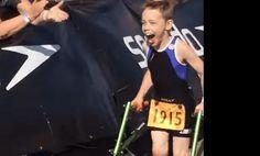 8 with Cerebral Palsy finishing Triathlon