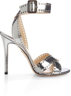 CHARLOTTE OLYMPIA Silver Take 110 Sandal - Lyst