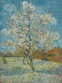 Vincent van Gogh:  The Pink Peach Tree, 1888. Meant to be part of a tryptch with The Pink Orchard and The White Orchard. Van Gogh Museum, Amsterdam.
