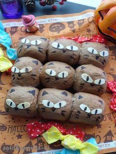 ハロウィン黒猫?キラリ☆ネコちぎりぱん☆  #halloween