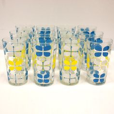 60s Butterfly Glasses Set Of 12 now featured on Fab.