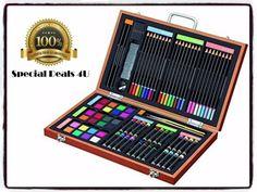 Sketching Drawing Art Set Artist 83 Pieces Sketching Crafts Paint Brushes Kid